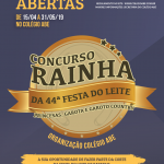 Regulamento do Concurso Rainha da Festa do Leite 2019