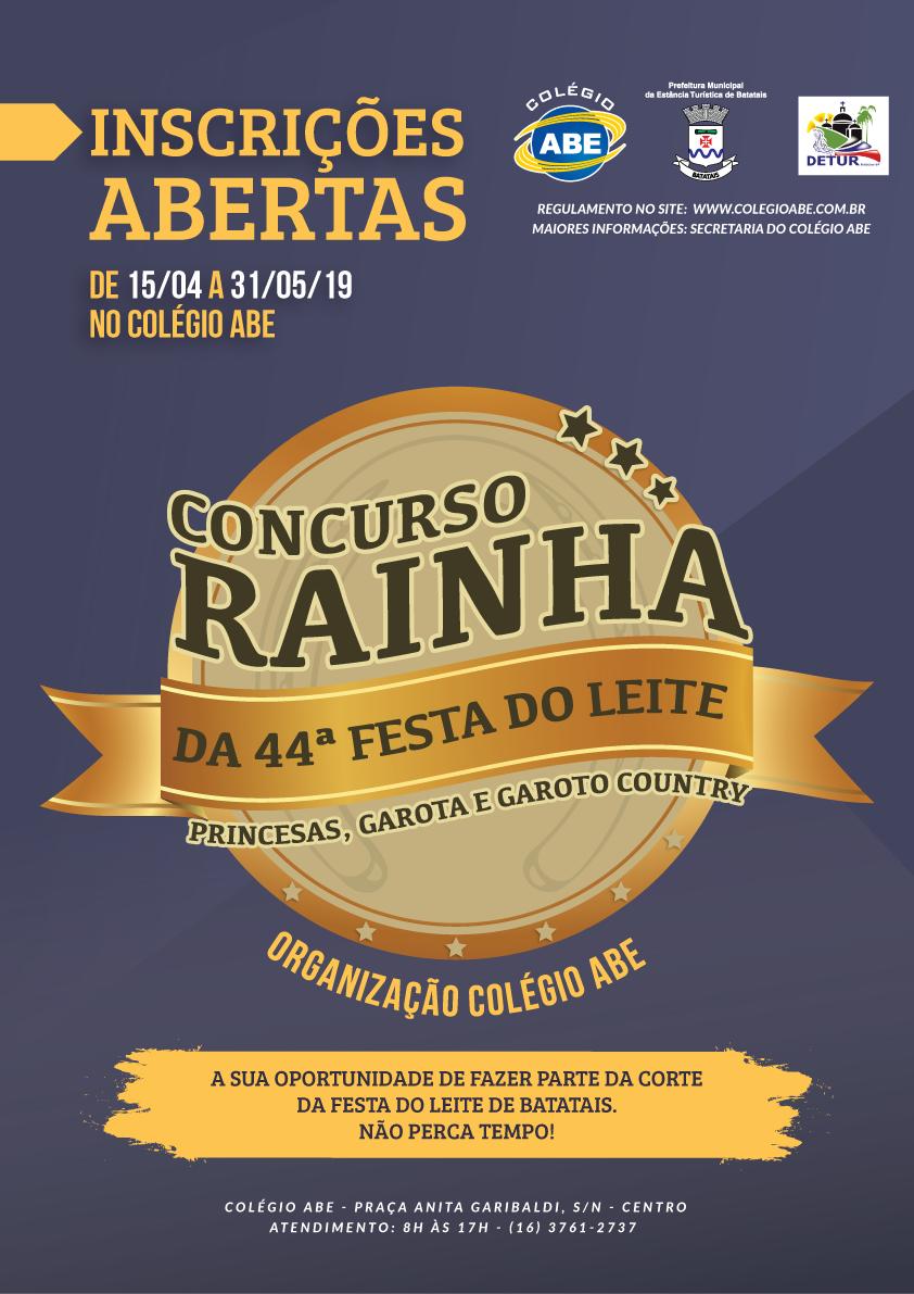 CONCURSO RAINHA DA FESTA DO LEITE DE BATATAIS 2019
